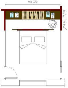 Closet behind bed master bedroom closet ideas Bedroom Closet Design, Bedroom Wardrobe, Dream Bedroom, Home Bedroom, Bedroom Decor, Bedrooms, Master Bedroom, Wardrobe Behind Bed, Bed Design