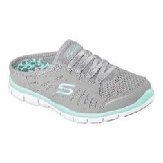 Women's Skechers Gratis No Limits Sneaker Clog Gray/Mint | Overstock.com Shopping - The Best Deals on Slip-ons