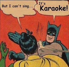 Batman loves it! #karaoke #Fayetteville