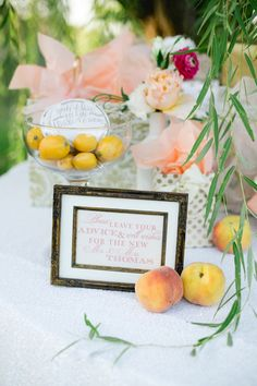 Chic and Charming Peach Wedding Ideas, table. Our Wedding, Wedding Gifts, Fine Stationery, Guest Book Alternatives, Blush And Gold, Peach Colors, Wedding Inspiration, Wedding Ideas, Wedding Designs