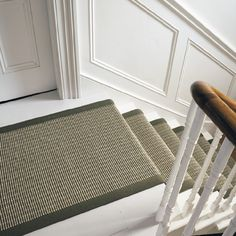 Stair and panelling: Sisal Small Boucle Accents Rug - Sisal Rugs @ The Natural Rug Store