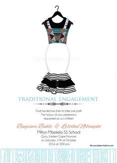 Ngiyakuthanda ndebele south african traditional wedding invitation sithandiwe xhosa traditional wedding invitation stopboris Gallery