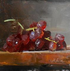 "Daily Paintworks - ""Grapes Study"" - Original Fine Art for Sale - © Kelli Folsom"