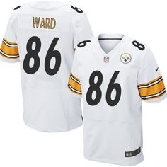 Hines Ward Men s Elite White Jersey  Nike NFL Pittsburgh Steelers Road  86  Ike Taylor c1cc13cce