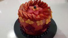 Strawberry, Papaya, Blueberry, Red Dragon Fruit, Watermelon Cake