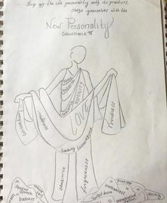 """Family worship art project: """"Clothe yourself with the new personality."""""""