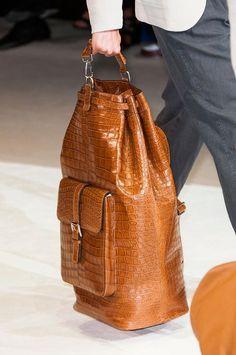 Alligator bag, alligator handbag for men Fashion Moda, Fashion Bags, Fashion Accessories, Mens Fashion, Leather Accessories, Armani Men, Giorgio Armani, Beautiful Bags, My Bags