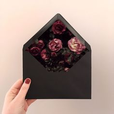 Moody + Magical | Floral envelope liners for wedding invitations. By Imaginary Beast // www.imaginarybeast.com