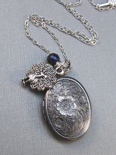 Pavo,Peacock,Locket,Silver Locket,Antique Locket,Blue,Filigree,Silver,Antique. Handmade jewelery by valleygirldesigns.. 27.00, via Etsy.  #Silver #tops Antique Silver, Antique Jewelry, Silver Jewelry, Blue Pearl, Lockets, Special Gifts, Filigree, Jewelry Ideas, Accessories