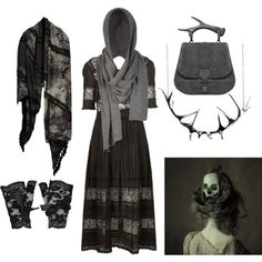 """Dark Mori Witch #2"" by grimoire-grotto on Polyvore"