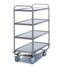 GTARDO.DE:  Tischwagen 4 Etagen, Tragkraft 200 kg, Ladefläche 1000x600 mm, Maße 1100x700 mm 611,00 €