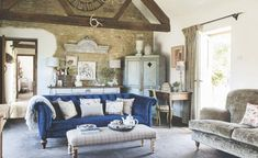 Barn conversions take careful planning, flexible budgeting and good design. Get them right, however, and the result will be a home that's entirely unique. We take a look at how to convert a barn – plus a church and school, too Antique French Furniture, Antique Chairs, Victoria Magazine, Barn Renovation, Rural Retreats, Stone Barns, Interior Decorating, Interior Design, Interior Ideas
