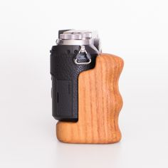 Panasonic Lumix with wooden cameragrip from Holzgriff Wooden Camera, Handmade Wooden, Cameras, Gadgets, Clouds, Camera, Gadget, Film Camera, Cloud