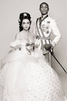 Cara and Pharrell for Chanel Campaign - Cara Delevingne and Pharrell as Cinderella