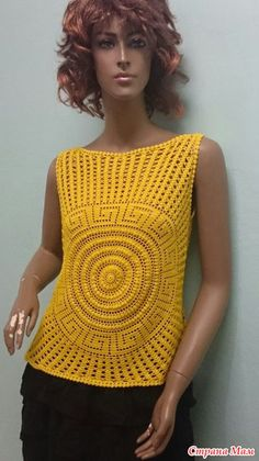 Top with a circular meander - Knitting - Country Mom