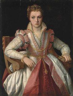 """loumargi: """" Francesco Salviati Del Rossi, a portrait of a lady, 1560 """" Renaissance Mode, Renaissance Costume, Renaissance Fashion, Renaissance Clothing, Italian Renaissance, Elizabethan Costume, Elizabethan Fashion, Elizabethan Era, Elizabethan Clothing"""