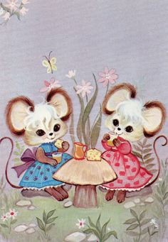 Cute mouse postcard from the 70s by CuteEyeCatchers on Etsy