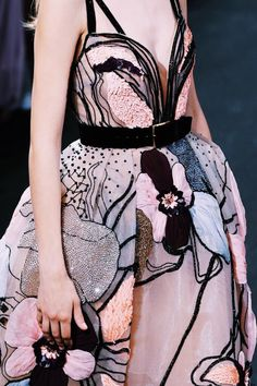 "velvetrunway: "" Details at Elie Saab Fall 2016 Haute Couture posted by…"
