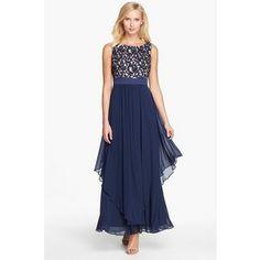 | Eliza J Portrait collar 3/4 sleeve maxi dress - Polyvore