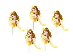 Princess Belle Beauty and the Beast Cupcake Wrapper Digital
