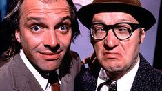 Rick Mayall and Adrian Edmondson star as the two men who have hit rock bottom...Absurd british humour..