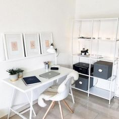 Ikea & # Lerberg & # trestles, & # Ranarp & # table lamp & # Vittsjö & # shelf - ALL ABOUT Workspace Design, Home Office Design, Home Office Decor, Small Workspace, Ikea Workspace, Minimalist Desk, Minimalist Home Decor, Minimalist Wedding, Ikea Living Room