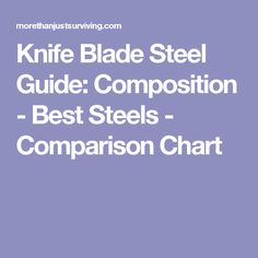 Knife Blade Steel Guide: Composition - Best Steels - Comparison Chart