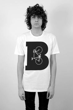 B Is For Bike Men's Perfect Fit T Shirt T Shirt by trulysanctuary, $25.99