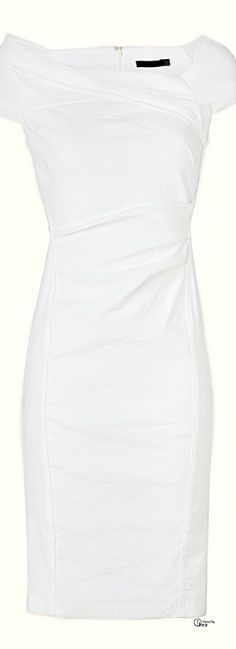 Donna Karan White Linen Dress | The House of Beccaria~
