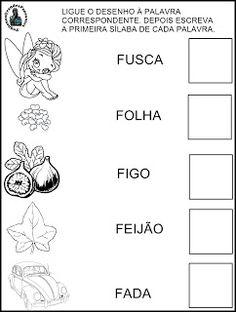 Pequenos Grandes Pensantes.: Atividades Inéditas - Família Silábica do F