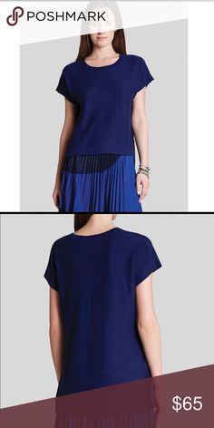 Selling this NWOT BCBG MaxAzria Dark Blue Sweater High-Low Top on Poshmark! My username is: rachelsworld. #shopmycloset #poshmark #fashion #shopping #style #forsale #BCBGMaxAzria #Sweaters