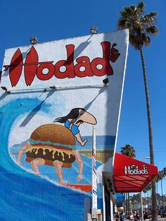 "Hodad's in OB! ""Best Burger in Town""...more like the world! (Hodad means a poser surfer!)"