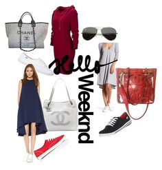 """""""Hello Weekend #5"""" by tracey22505 on Polyvore featuring American Twist, Keds, Chanel, Edit, WithChic and Ray-Ban"""