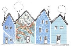 Security Envelope Houses by Laura Wennstrom, via Flickr