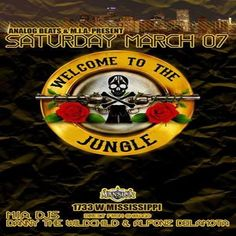 Welcome to the Jungle at Mansion, 1733 W Mississippi, Denver, Colorado, 80223, US on March 7, 2015 to March 8, 2015 at 9:00pm to 6:00am, Analog Beats And M.I.A. Present  Welcome To The Jungle  Feat:  Stage 1  Danny The Wildchild  Konkrete Jungle - M.I.A. - Combat Records - Chicago  Danny The Wildchild Www.Miadnb.Com URLs: Booking: http://atnd.it/19674-1 YouTube: http://atnd.it/19674-2 Twitter: http://atnd.it/19674-3 Category: Nightlife   Price: Reg. Tickets $20, Early Bird $10