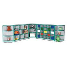 Mahar Creative Colors Creative Colors Compartment Cubby with Casters Trim Color: Red, Size: 30 Tray