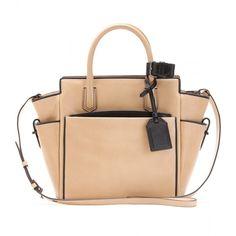 Reed Krakoff Mini Atlantique Leather Tote ($1,290) ❤ liked on Polyvore featuring bags, handbags, tote bags, purses, сумки, bolsa, mini tote bag, leather man bag, leather tote purse and leather hand bags
