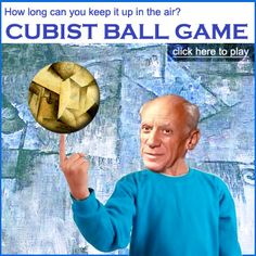 How long can you keep the cubist ball in the air?  Play the Cubist Ball Game: http://www.artsology.com/cubist-ball-game.php