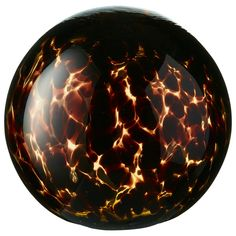 Large Glass Tortoiseshell Decorative Ball - Multi | OKA