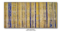 PLUCK 1, 76 X 152 cm., acrylic on panel, SOLD