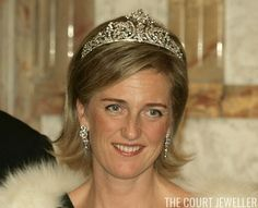 Princess Astrid wears the Savoy-Aosta Tiara. Tiaras are special because they're beautiful works of art, but some of them are doubly interesting because of their royal pasts. Every now and then, one of today's princesses wears a tiara that came from a royal house of the past. Today's tiara, the Savoy-Aosta Tiara, is one of those, it started off with a branch of the former reigning family of Italy, and now it graces the head of a Belgian princess.