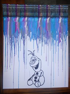 Disney Frozen Olaf the Snowman Melted Crayon by OnceUponACrayon, $35.00