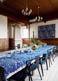 Mynsteri oilcloth from Marimekko Zoffany Fabrics, Prestigious Textiles, Play Table, London Hotels, Summer Feeling, Marimekko, Cool Wallpaper, White Patterns, Dining Table