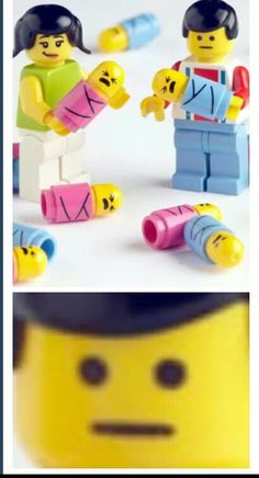 Lego dad doesn't look very enthused. I didn't even know they made lego babies.