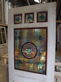 entry door stained glass replacement. three over one panel stained glass front door entry replacement e
