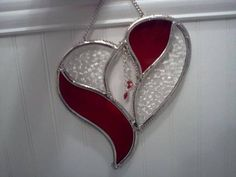 Leaded heart with Swarovski crystals dangles