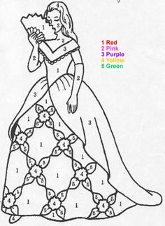 Characters Color By Number Coloring Pages Princess Princess Coloring Pages Disney Princess Coloring Pages Princess Coloring