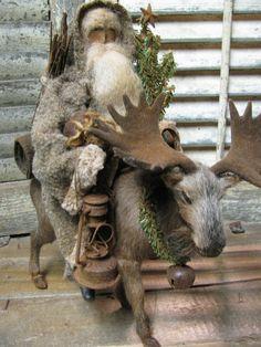Olde Mountain Santa~ Primitive Folk Artist Sue Corlett~1897 House