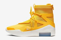 Jerry Lorenzo's Nike Air Fear of God 1 surfaces in yet another bright summer colorway. Get a look at the can't-miss yellow iteration here. Nike Air, Nike Snkrs, Ella Shoes, Zoom Iphone, Iphone 5c, High Top Sneakers, Sneakers Nike, Sneakers Fashion, Streetwear