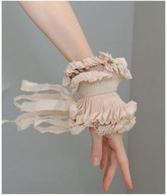 Items similar to Beige detachable pleated cuffs/Wrist ruffle/Hand made accessories/Couture cuffs/Sleeve detail/Ruffled sleeve/Fabric bracelet/ on Etsy Beige Wedding, Chic Wedding, Wedding Rustic, Wedding Pics, Wedding Gowns, Fabric Bracelets, Fabric Necklace, Fashion Details, Fashion Design